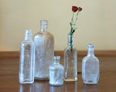 Antique Glass Bottle Collection // The Apothecary