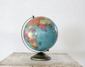 Mid Century World Globe // 1950s Repogle World Globe