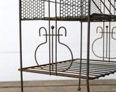 Vintage Industrial Shelf / 1960s Metal Stand