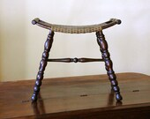 Antique Saddle Stool // Pressed Wood Seat