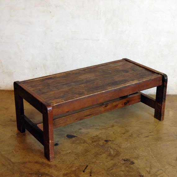 Antique Wood Coffee Table .. Cream or Sugar
