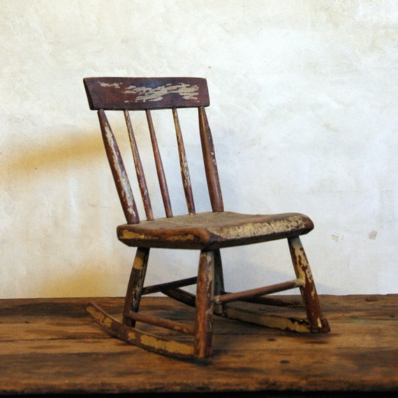 Little One Antique Children 39 S Rocking Chair By 86home On Etsy