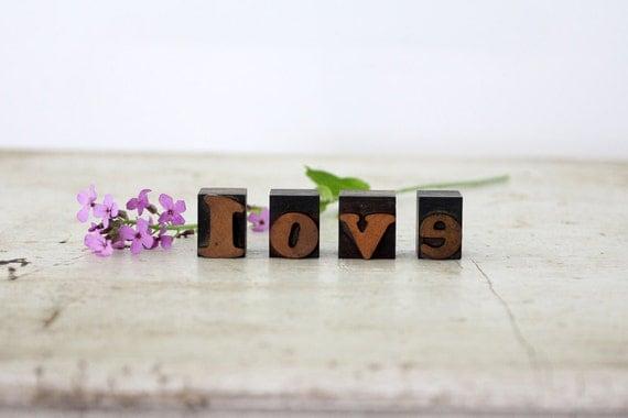 Love // Vintage Letterpress Blocks