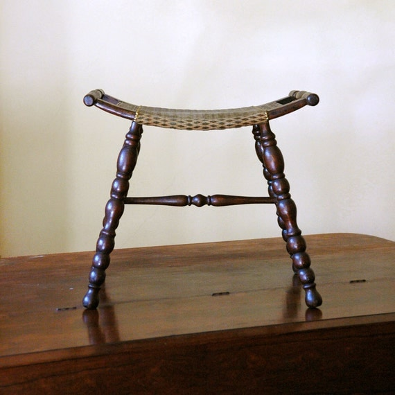 Antique Saddle Stool Pressed Wood Seat By 86home On Etsy
