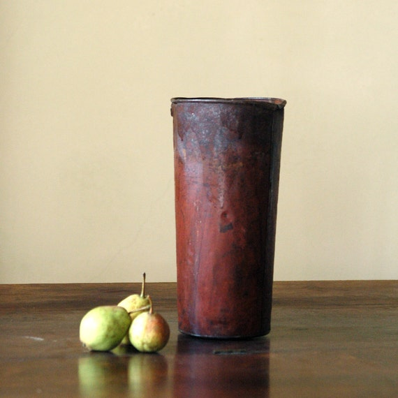 Antique French Tin // Red Rust
