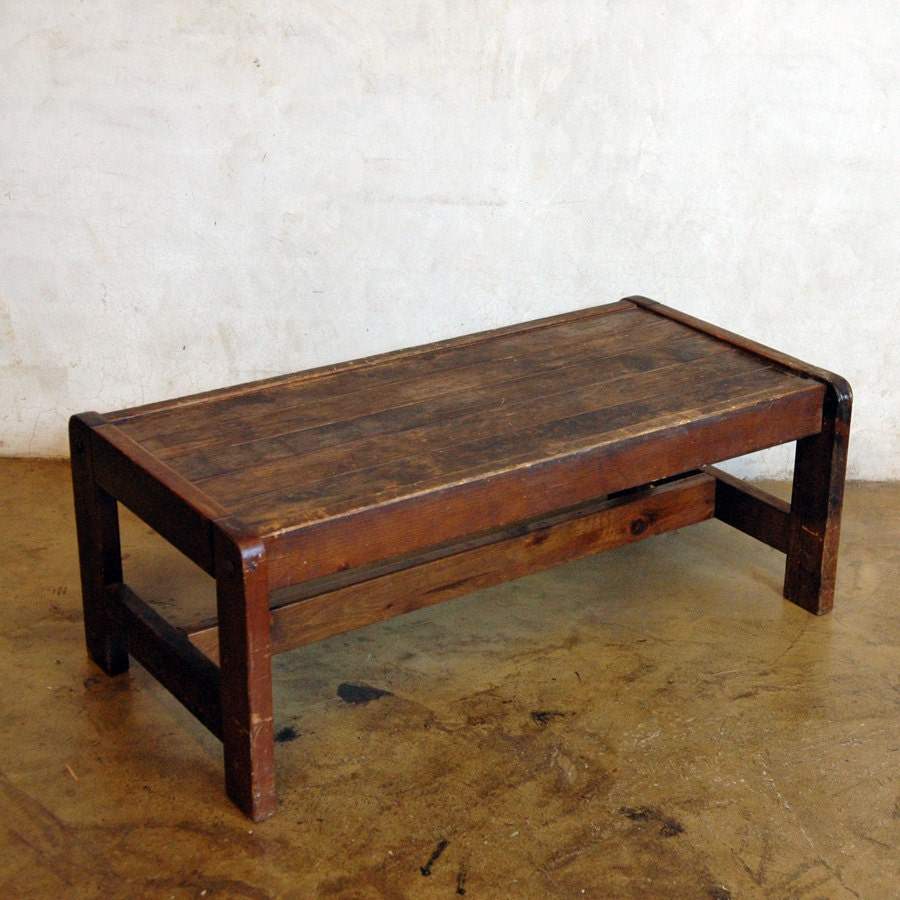 Antique Wood Coffee Table .. Cream Or Sugar By 86home On Etsy