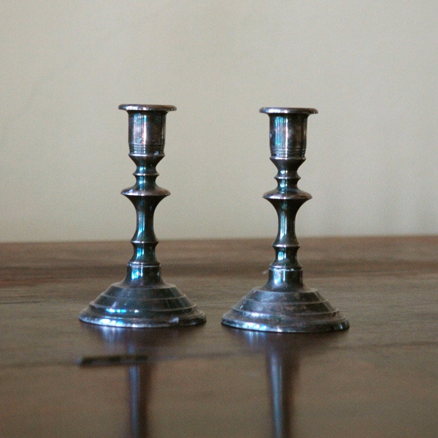 Antique Silver Candlestick Holders Dining
