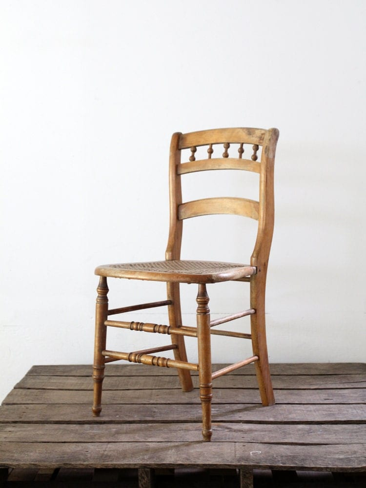 Antique Wooden Chairs ~ Cane seat chair antique wood