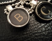 Letter B  Vintage Typewriter Key Necklace If you don't see your initital just CONVO me