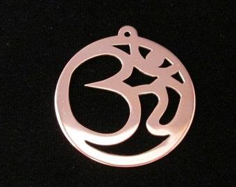 Large Copper Om Pendant