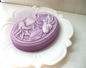 ART NOUVEAU SOAP, Flower Soap, Clematis Flowers, Art Nouveau in Lilac, Periwinkle, or Wine, Custom Scented, Handmade