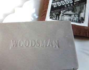 """MENS SOAP, Bar Soap, For Him, For Dad, Guys, Dirty Boy Soap For Men who love their Wood but keep it Clean"""" Men's Innuendo Fun Woodsman Soap"""
