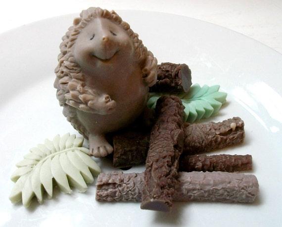 Hedgehog SOAP, The Original Henry the Mischievous Happy Hedgehog, Scented in Sage & Lemongrass- Moisturizing Vegetable Based