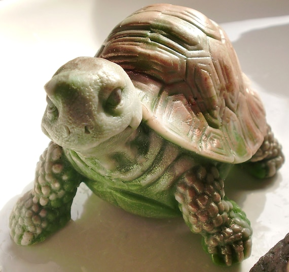 Turtle Soap, 3.5OZ Tanner the Turtle, Scented in Sage-Lemongrass, Handmade, Vegetable Based