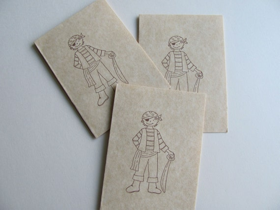 Boy Pirate Note Cards