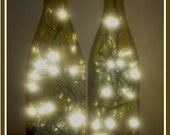 2 Lighted Wine Bottle, Wine Bottle Lamp, Bar Light