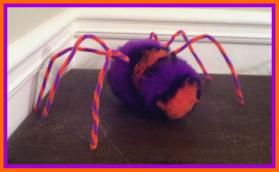 SHIPPING CHARGE Tulle Spider Decoration, Halloween Spider, 7 in X 13 in in size