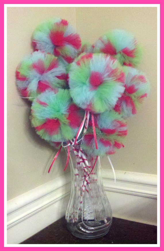 CUSTOM ORDER for alexistschetter Large Poof Ball, Tulle Princess Wands, Made To Order :-D