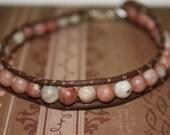 "8"" VEGAN Earthliness Fleshy JADE Gems Pinks Browns"