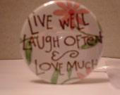 Live Well, Laugh Often..Pocket Mirror