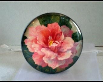 Pink Old Rose 2 1/4 inch Pocket Mirror