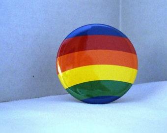 Rainbow Striped 2 1/4 inch Pocket Mirror