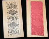 Mounted Rubber Stamp Diamond Border
