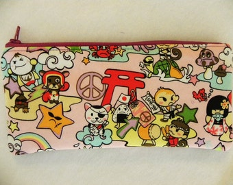 Sale-Tomodachi grape Pencil Case-Long zipper