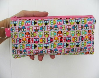 Mini Owls Pencil Case/cosmetic pouch-Just a few left.