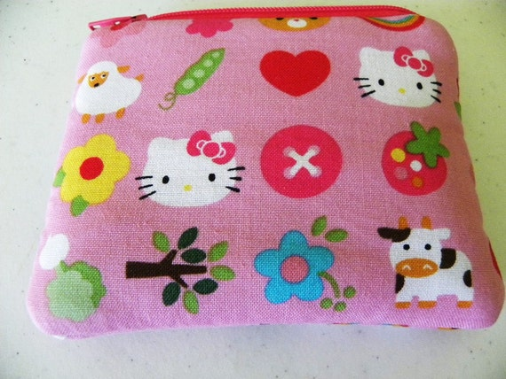 Hello Kitty small zipper padded coin/gadget/accessory pouch