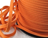 6yds Faux Suede leather Micro Fiber Orange Jewelry Cord Rust Orange Lace 5mm x 1.5mm