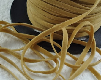 6yds total Faux Suede leather Micro fiber Jewelry Cord Beige Lace 3mm x 1/2mm for DIY Projects