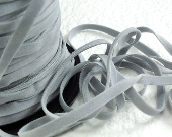 6yds Faux Suede leather Micro Fiber Gray Jewelry Cord Light Grey Lace 4mm 5mm x .5mm Flat for DIY Projects