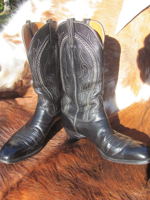 Vintage Lucchese Handmade Boots Black