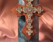 Cross Decorated Candle