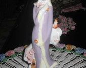 Chinoiserie collectable  signed vintage Geisha girl figurine