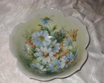 vintage handpaint china candy bowl