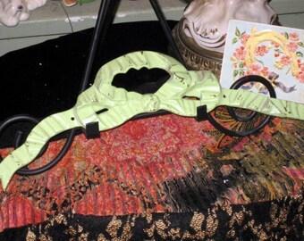 green brass bow ribbon