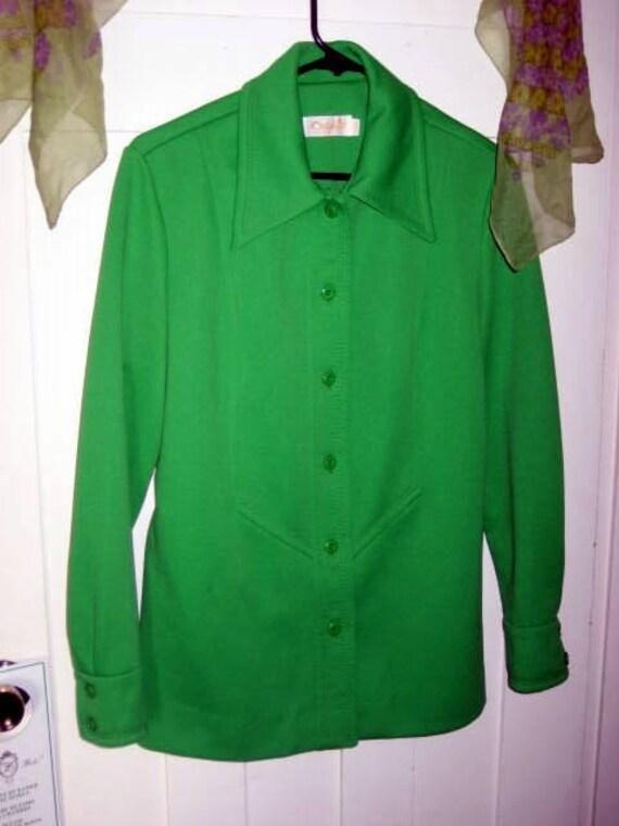 Vintage retro lime green jacket size 12