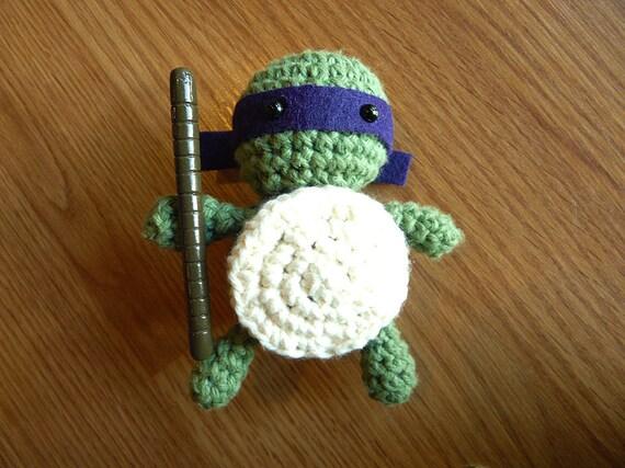 Donatello Teenage Mutant Ninja Turtles Amigurumi Crochet