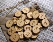 Homemade Pine Futhark Runes
