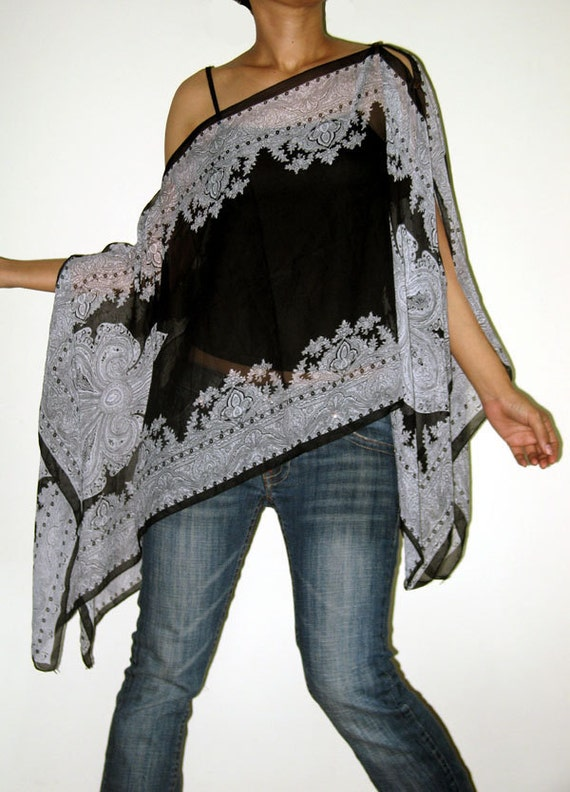 Gypsy Scarf Caftan Wing Casual Poncho Cover Top