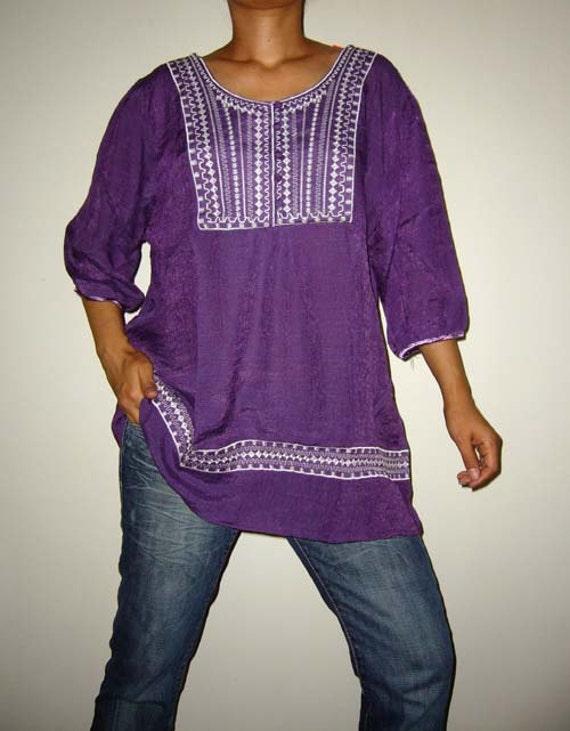 Comfy... Purple Oversize / Plus Size / Maternity Top