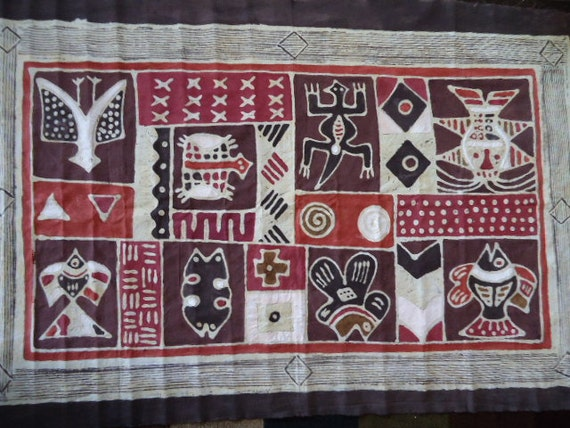 Batik African Hand-dyed & Painted Tapestry