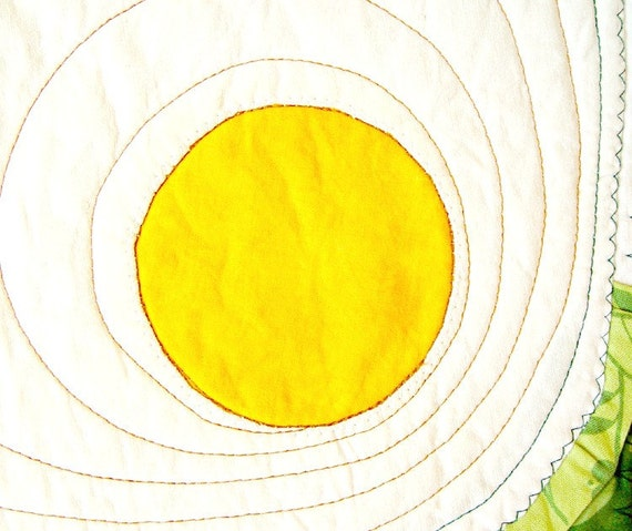 Quilted personal placemat - Sunny side up