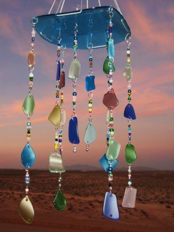 Beach Glass Mobile/ Windchime