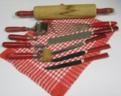 Vintage Red Utensils from the 1940s