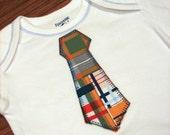 Applique Tie Onesie, Long Sleeve, 9 months