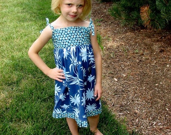 Cool Water Sundress Girls Size 4/5