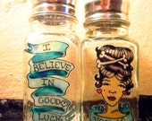 Voodoo Good Luck Tattoo style Salt Shaker